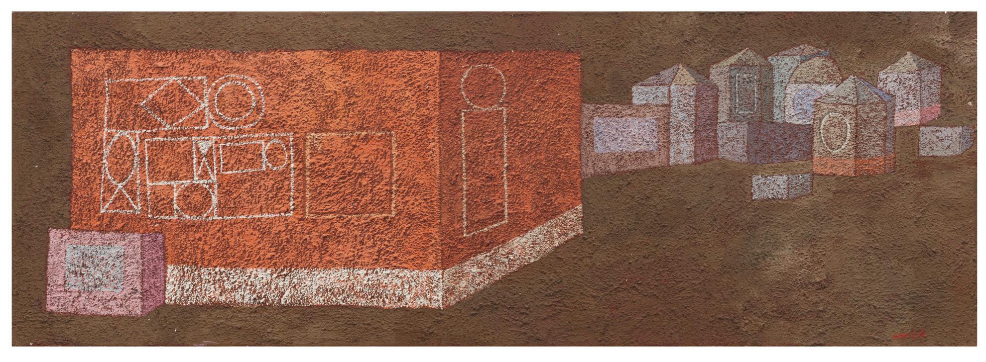 Domenico Gnoli-Casa Rossa-1958