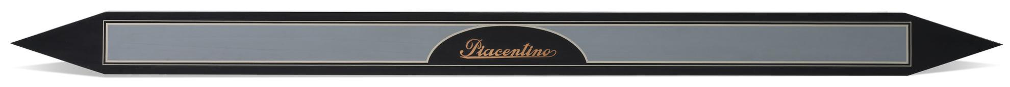 Gianni Piacentino-Black-Indigo And Gray-Blue Point Shaped Bar With Copper Signature I-1975