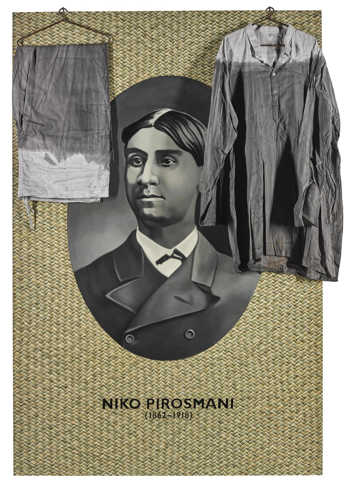 Atul Dodiya - Portrait Of Niko Pirosmani-2005
