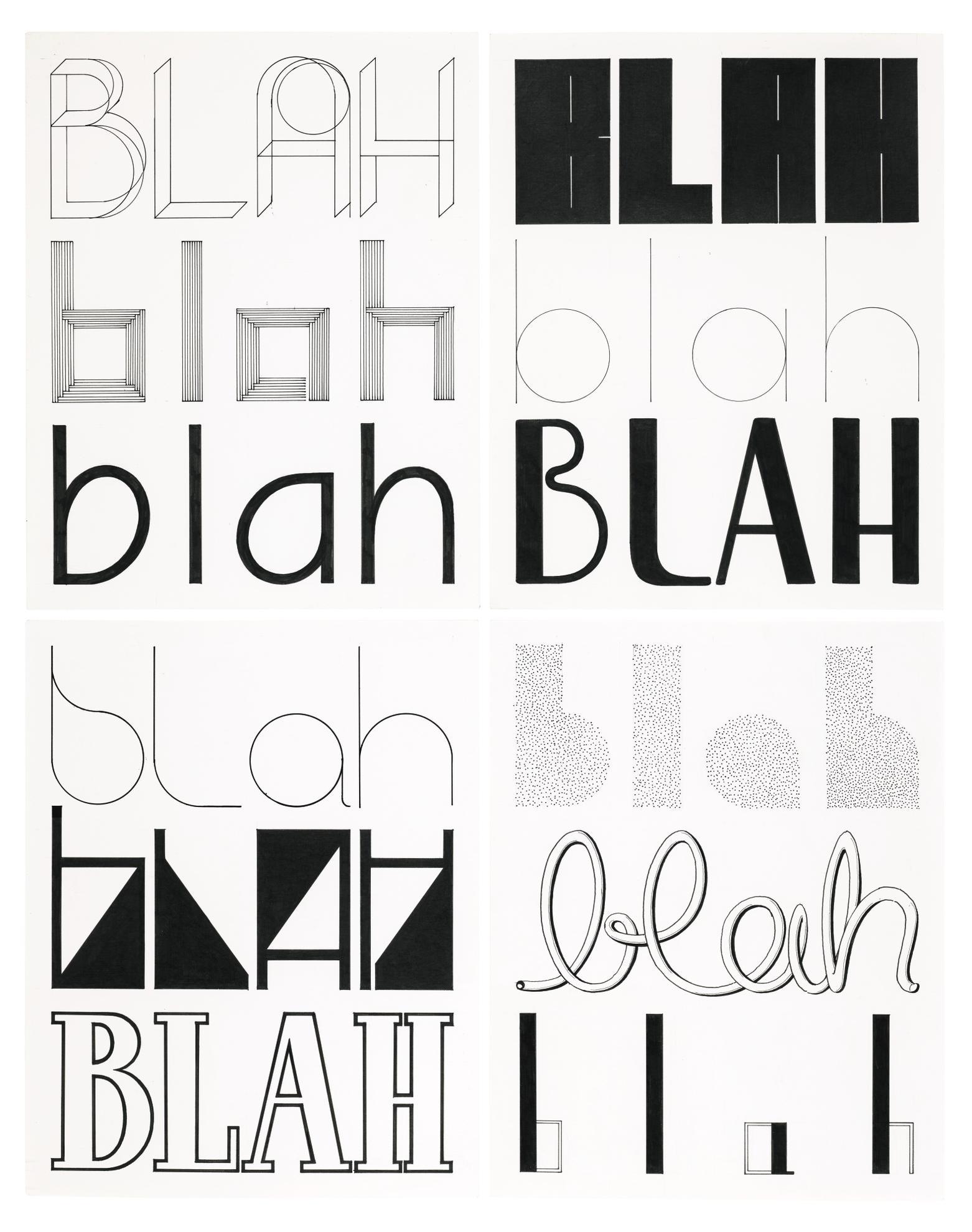 Tauba Auerbach-Blahs II-2006