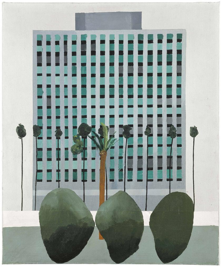 David Hockney-California Bank-1964