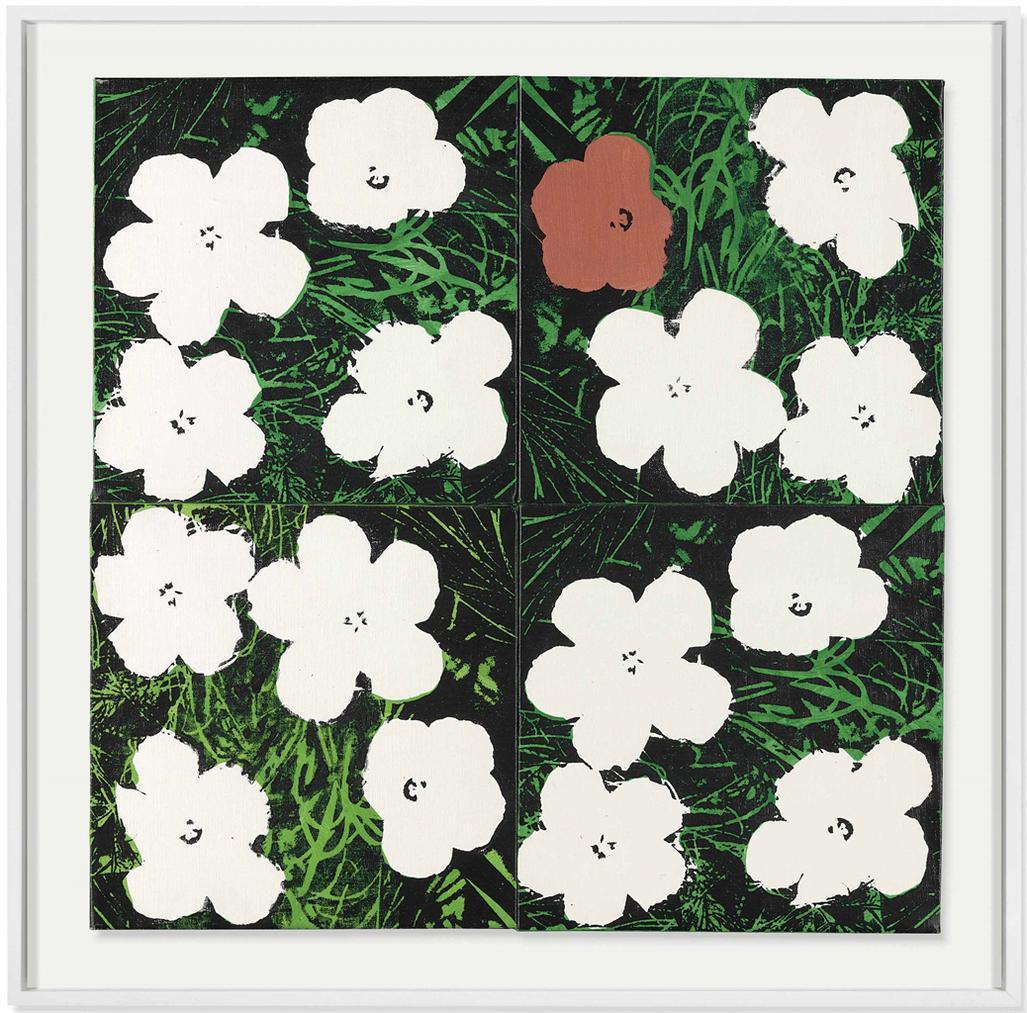 Elaine Sturtevant-Four Warhol Flowers-1970