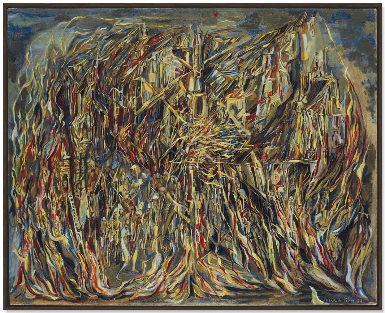 Maria Helena Vieira da Silva-Lincendie I (The Fire I)-1944