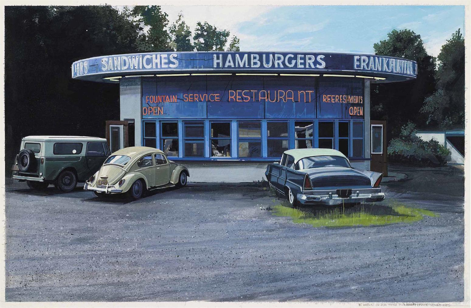 Richard Estes-Sandwiches, Hamburgers, Frankfurters-1970