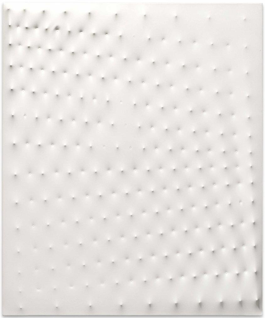 Enrico Castellani-Superficie Bianca (White Surface)-1981