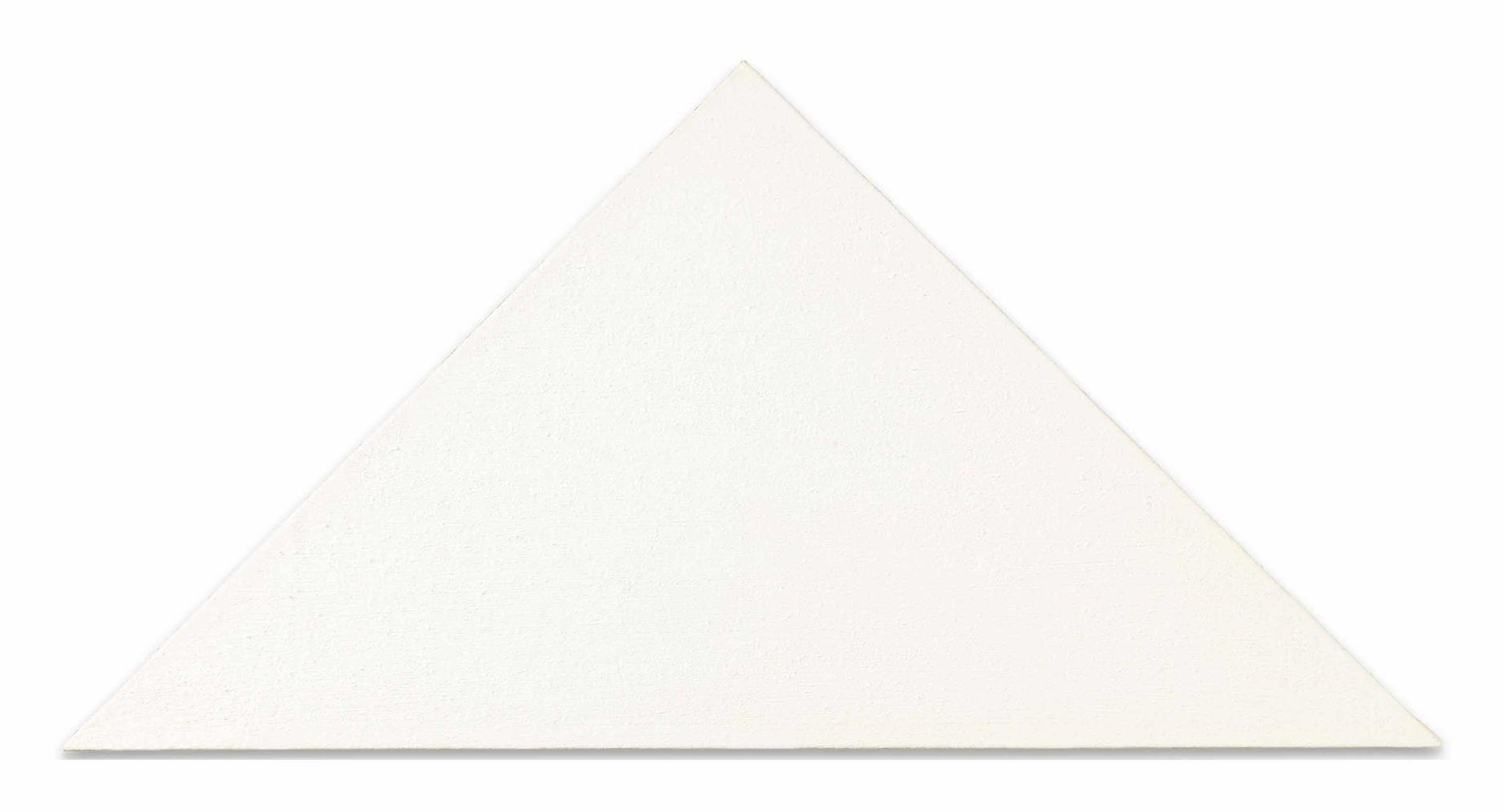 Blinky Palermo-Ohne Titel (Weisses Dreieck) [Untitled (White Triangle)]-1966