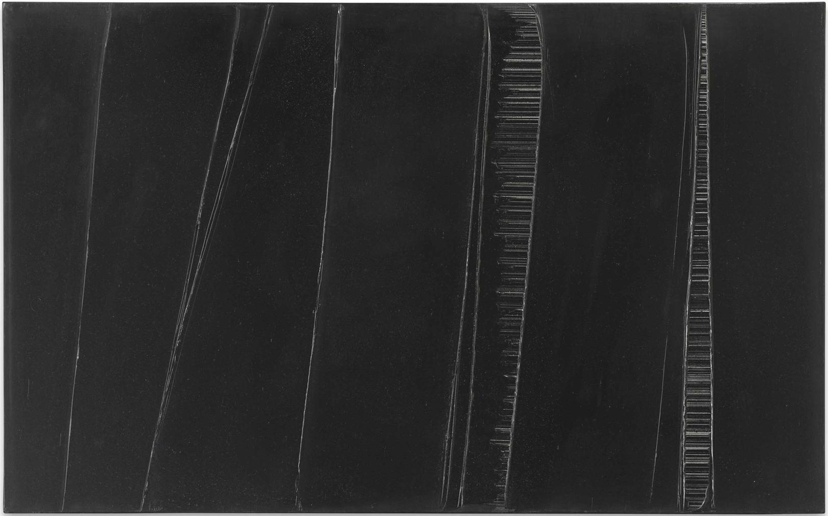 Pierre Soulages-Peinture 81 X 130Cm, 1Er Mars 1987-1987