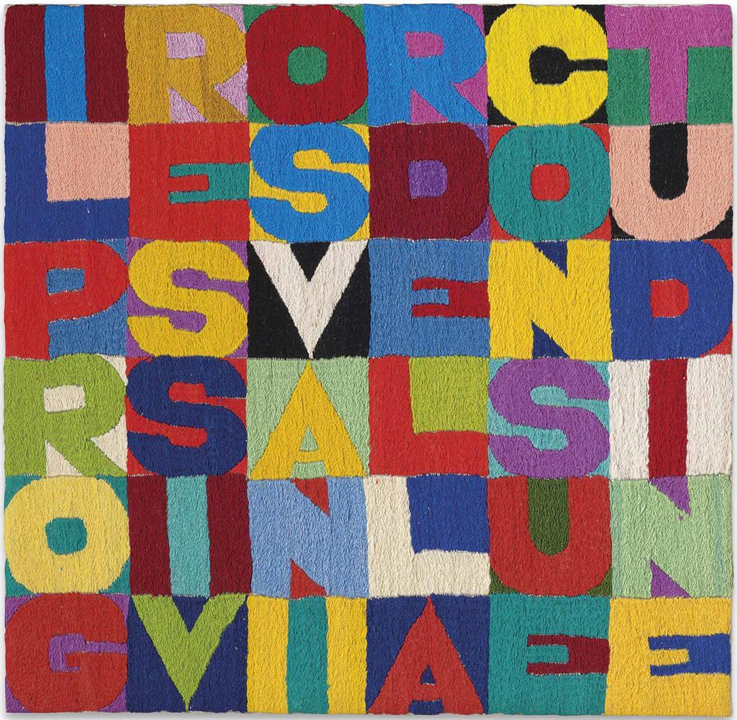 Alighiero Boetti-Il Progressivo Svanir Della Consuetudine (The Progressive Disappearance Of Habit)-1988