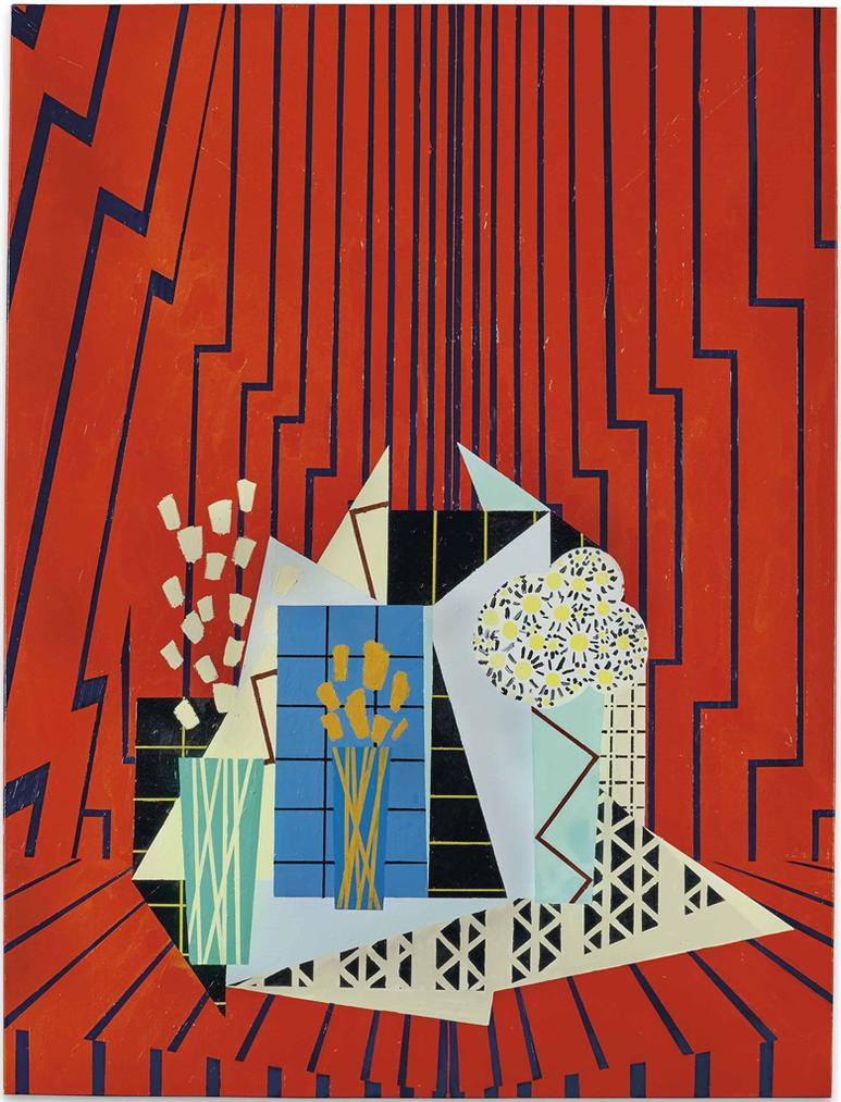 Farah Atassi - Still Life In Red Interior-2015