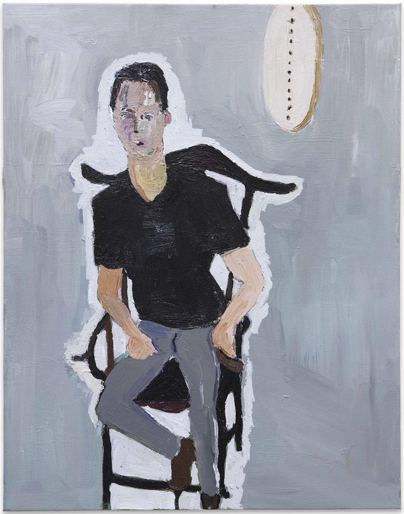 Henry Taylor-Untitled (Portrait Of Hez Cohen)-2016