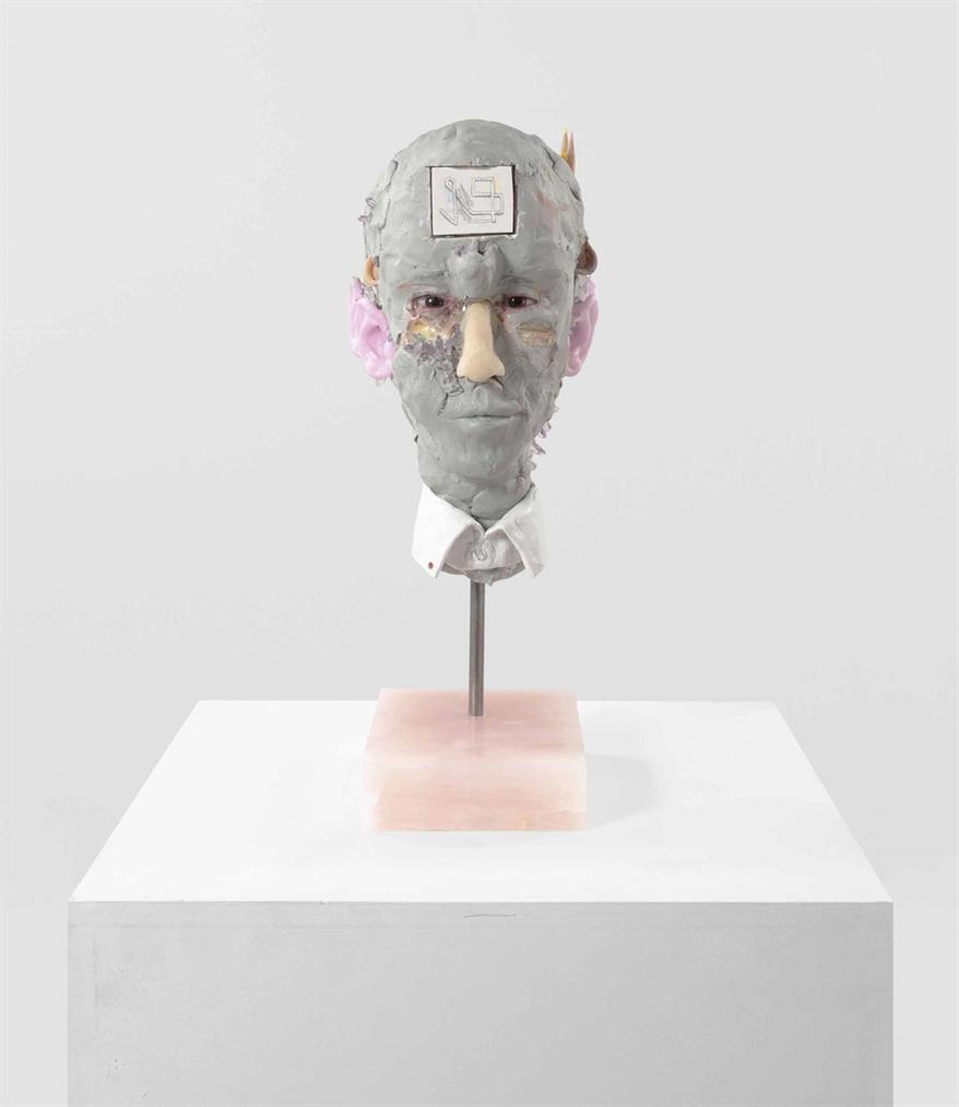 David Altmejd-Bust With Glass Ears-2018
