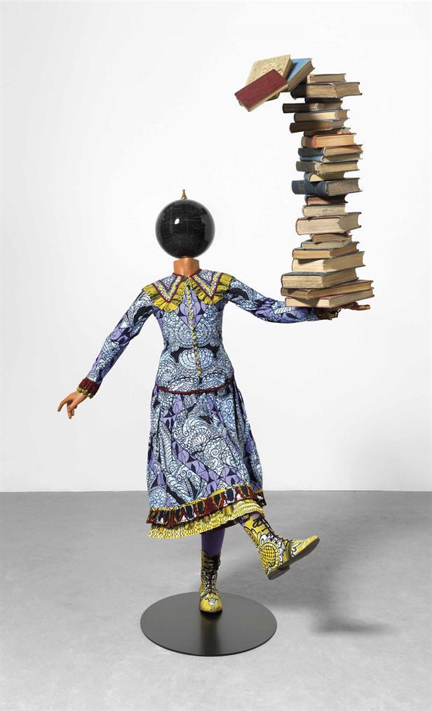Yinka Shonibare-Girl Balancing Knowledge-2015