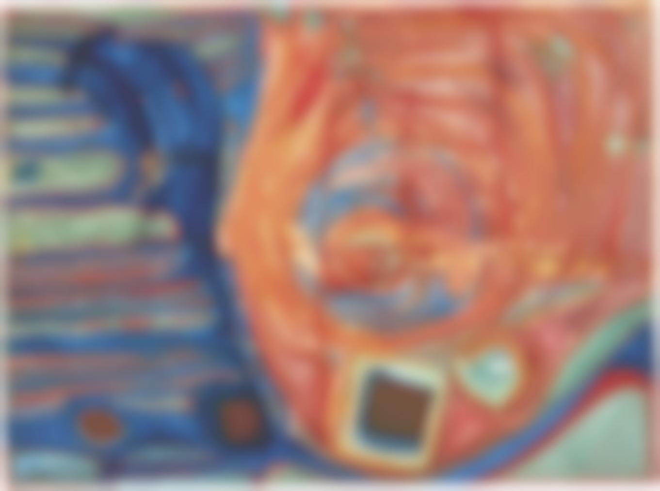Friedensreich Hundertwasser-Soleil Enjolive Par Les Symptomes De La Maladie (The Symptoms Of The Illness Beautify The Sun)-1957