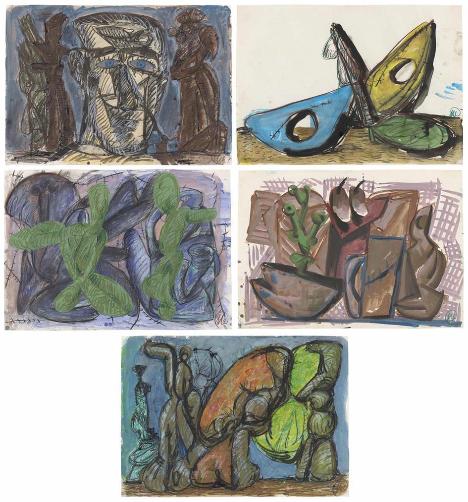 Markus Lupertz-(I) - (V) Untitled-1990