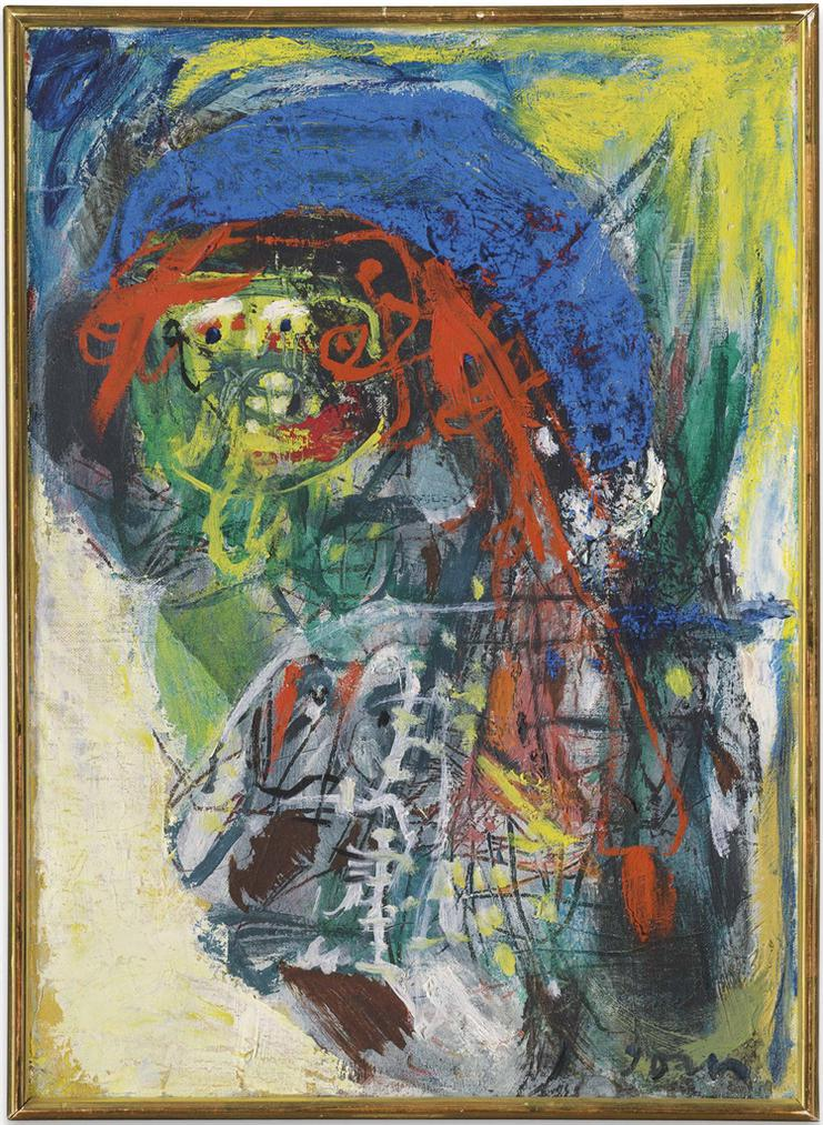 Asger Jorn-I Den Kolde Sne (In The Cold Snow)-1963
