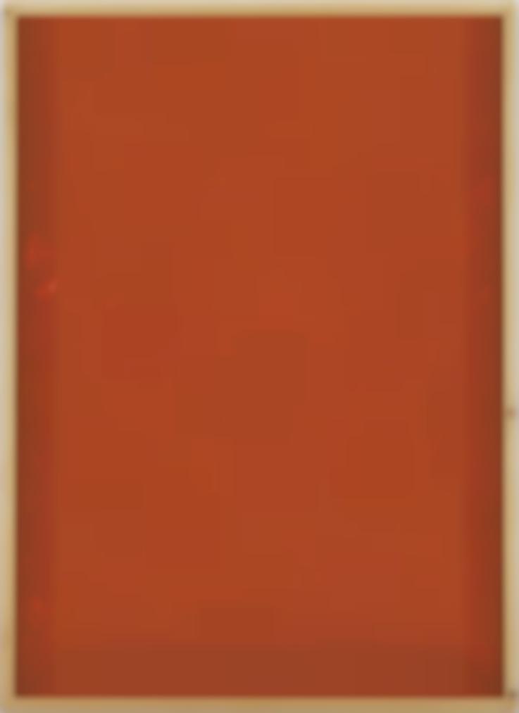 Imi Knoebel-Rote Acrylglaszeichnung Nr. 3-1990