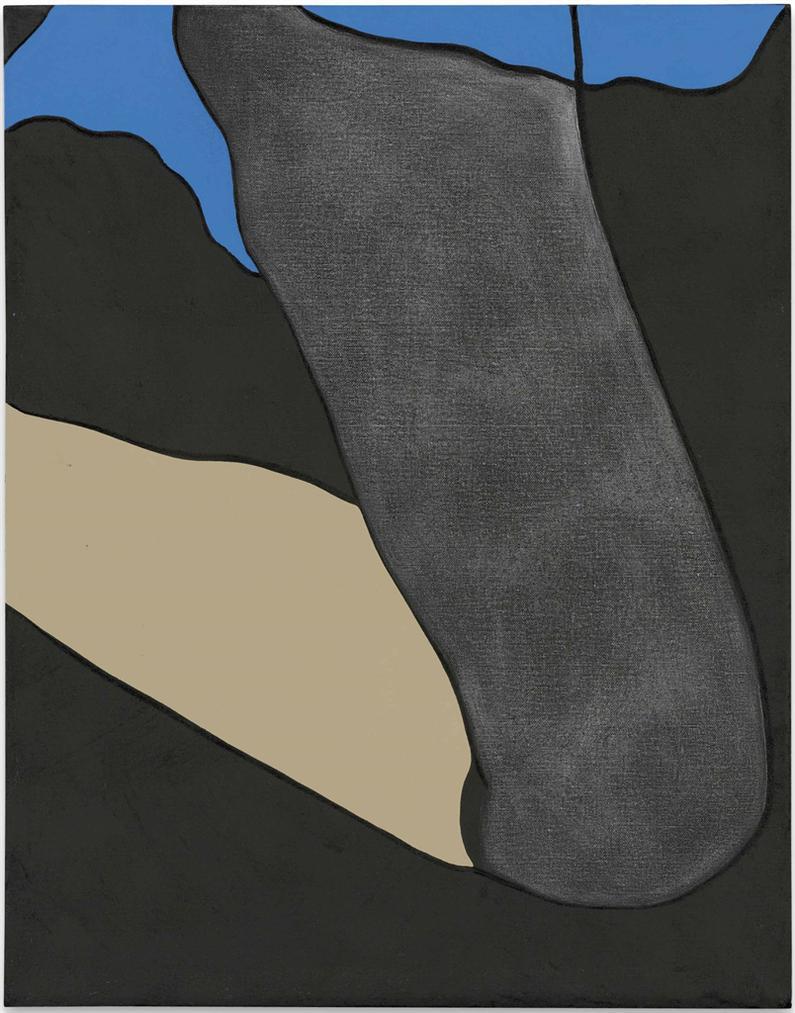Gary Hume-American Tan II (Charcoal)-2007