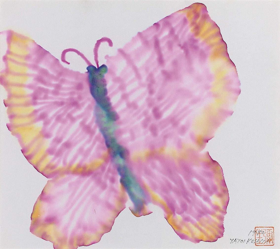 Yayoi Kusama-Butterfly-1980