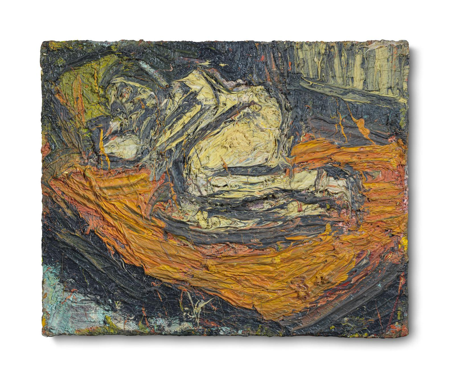 Leon Kossoff-Nude On A Red Bed No. 3-1968