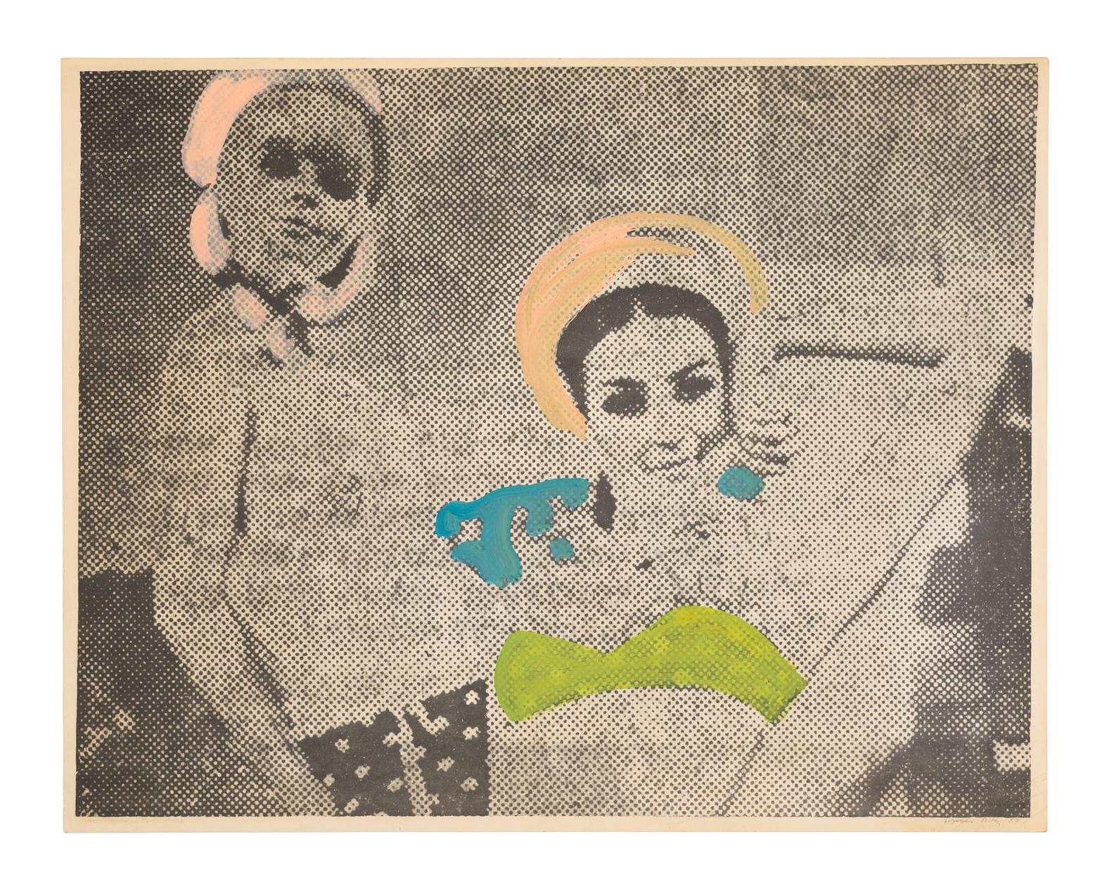 Sigmar Polke-Freundinnen II-1967