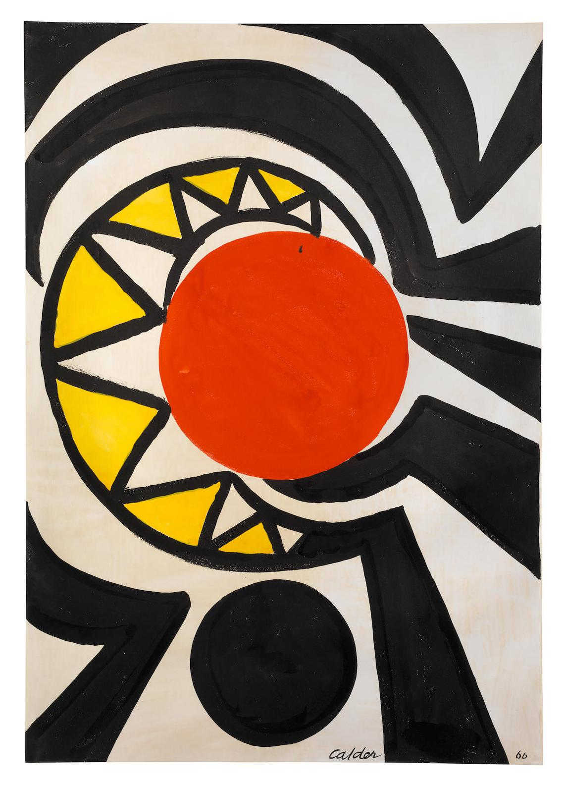 Alexander Calder-Red Core-1966