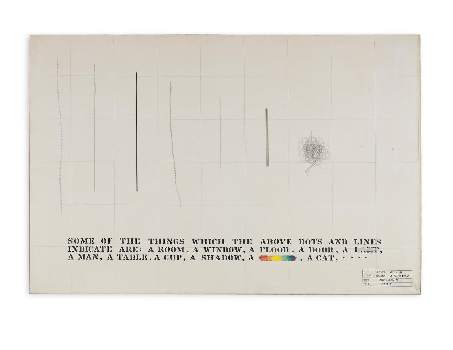 Shusaku Arakawa-1. Moving Picture 2. Portrait Of A Civilization-1969