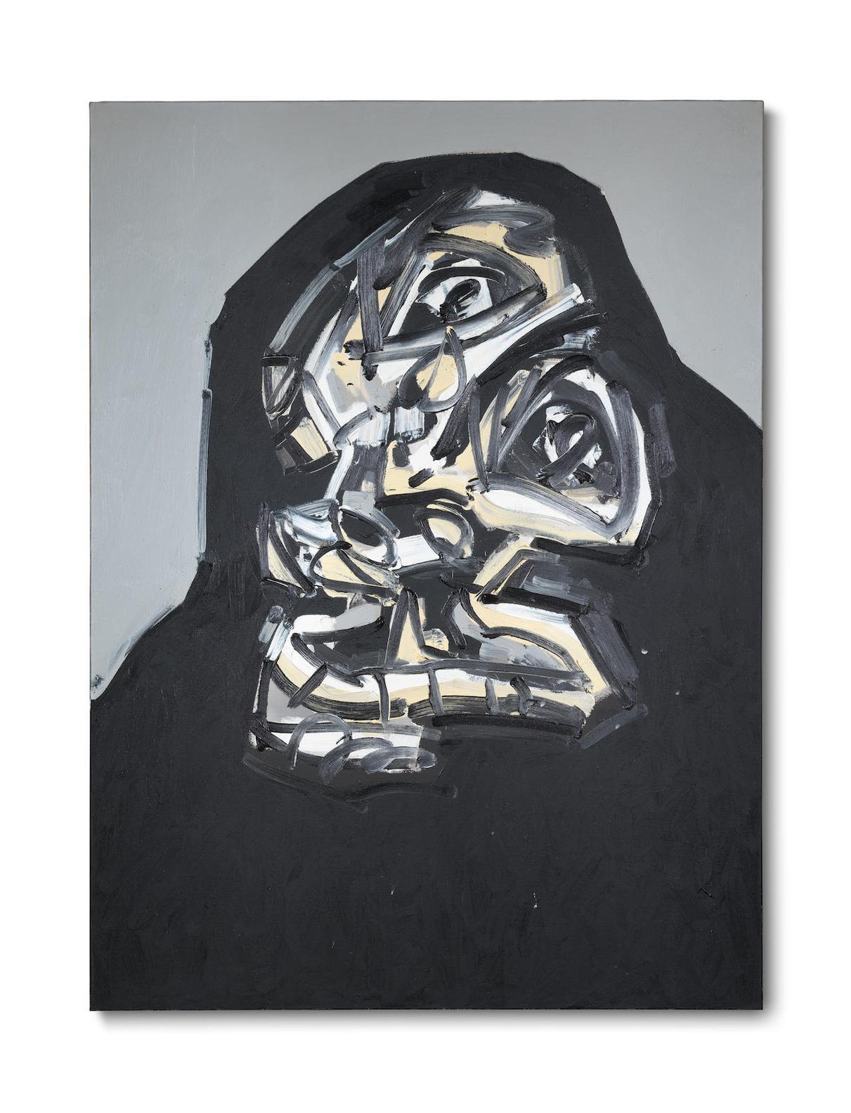 Antonio Saura-Portrait No. 6-87-1987