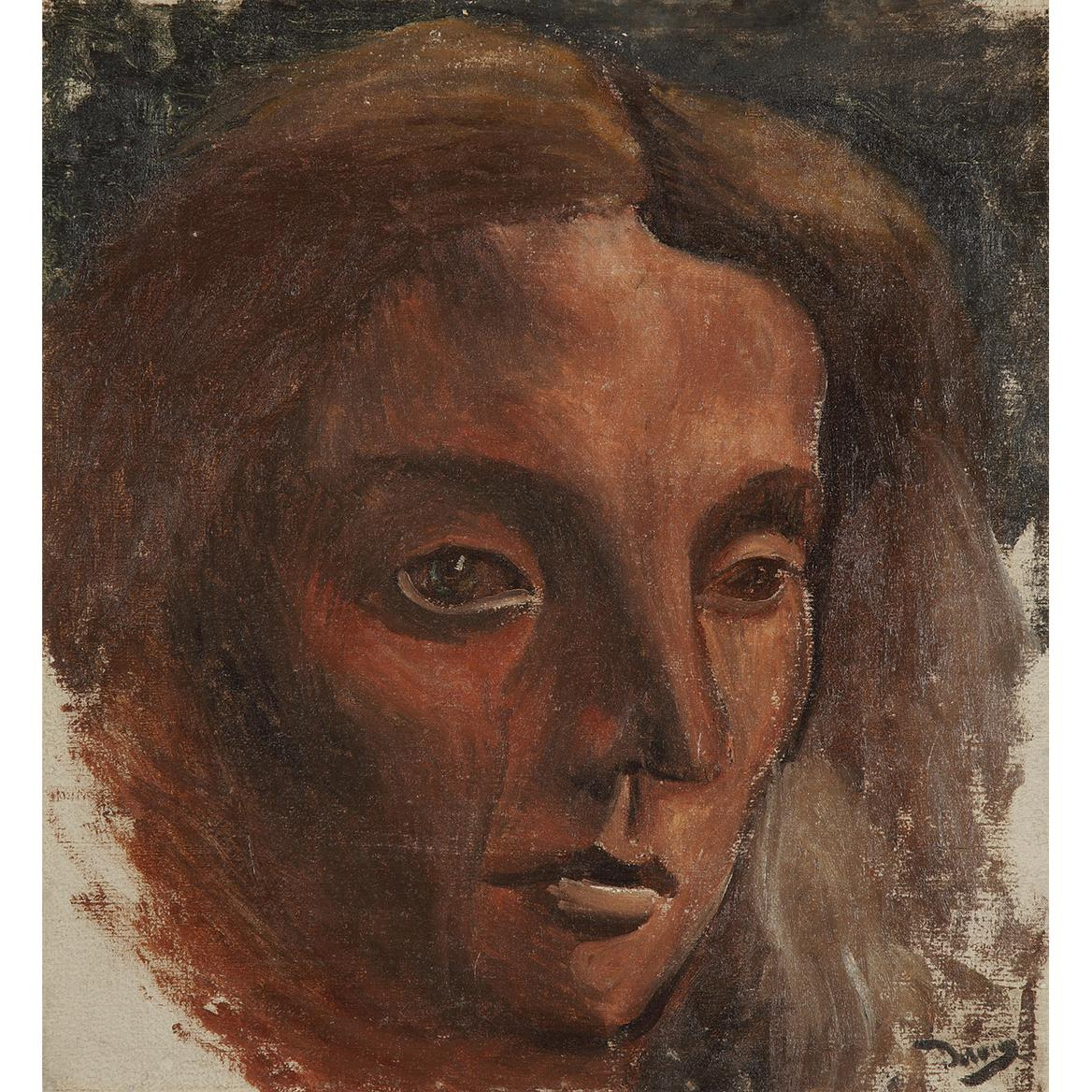 Andre Derain-Portrait De Femme-1919