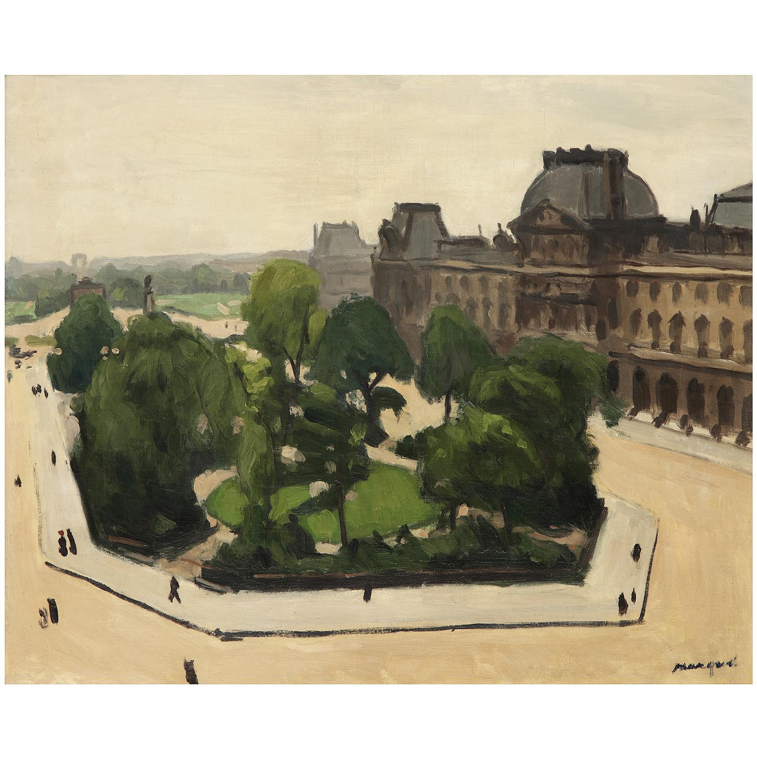 Albert Marquet-Parisle Louvre Et Le Carrousel,-1910