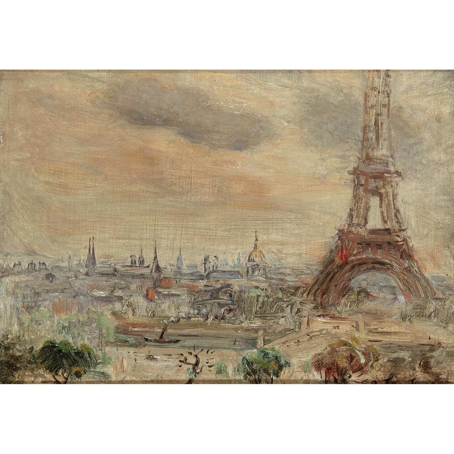 Andre Hambourg-Vue De La Tour Eiffel-1951