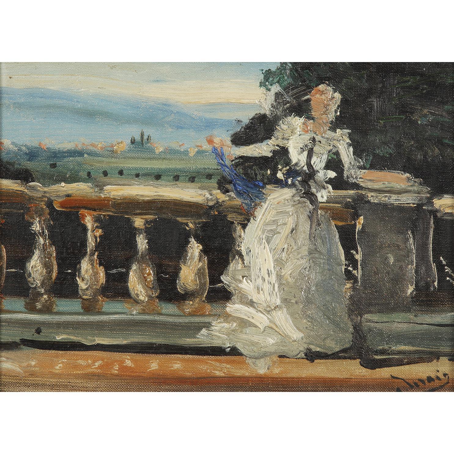 Andre Derain-Elegante Au Balcon-1940