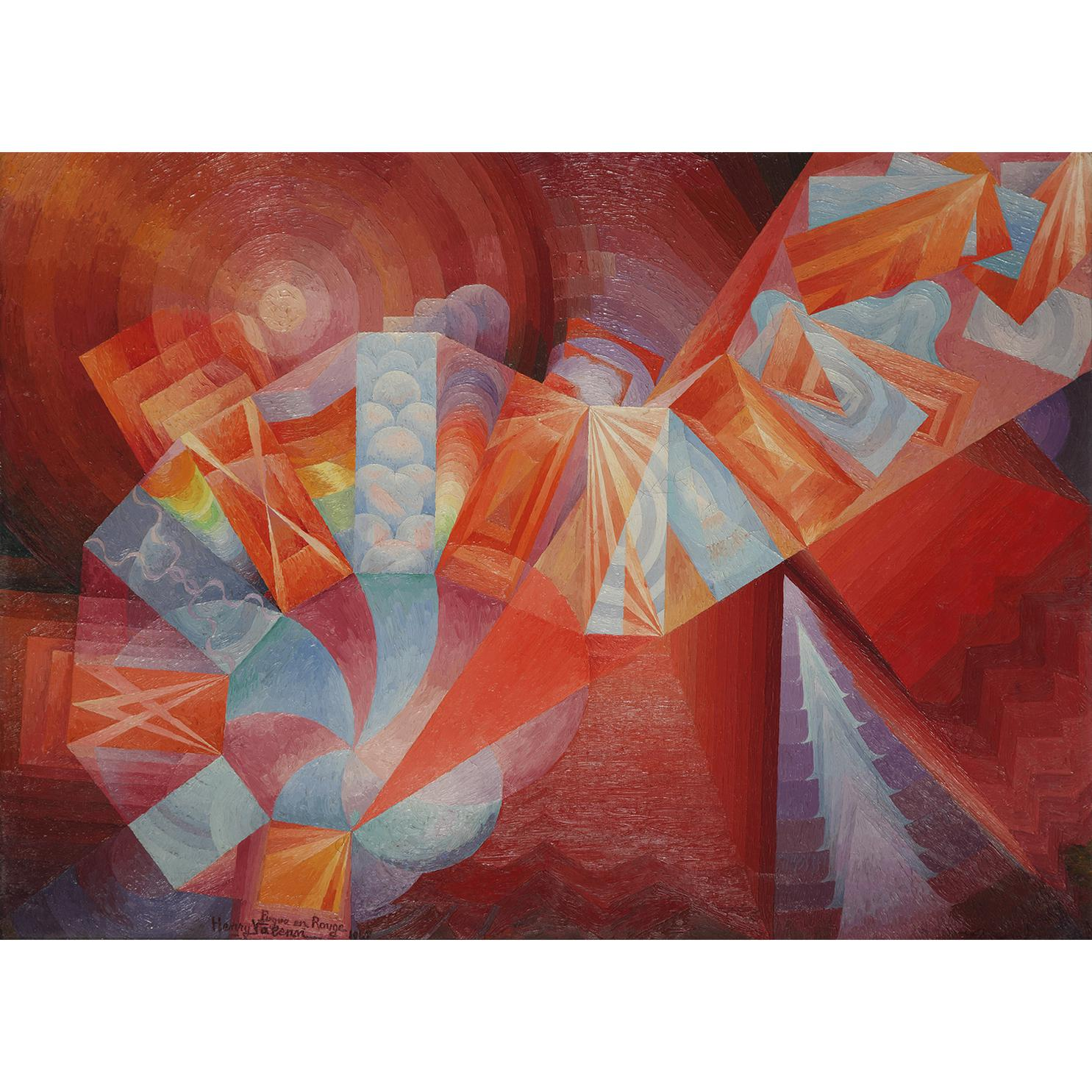 Henry Valensi-La Fugue En Rouge-1948