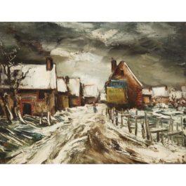 Maurice de Vlaminck-Paysage De Neigevers-1940