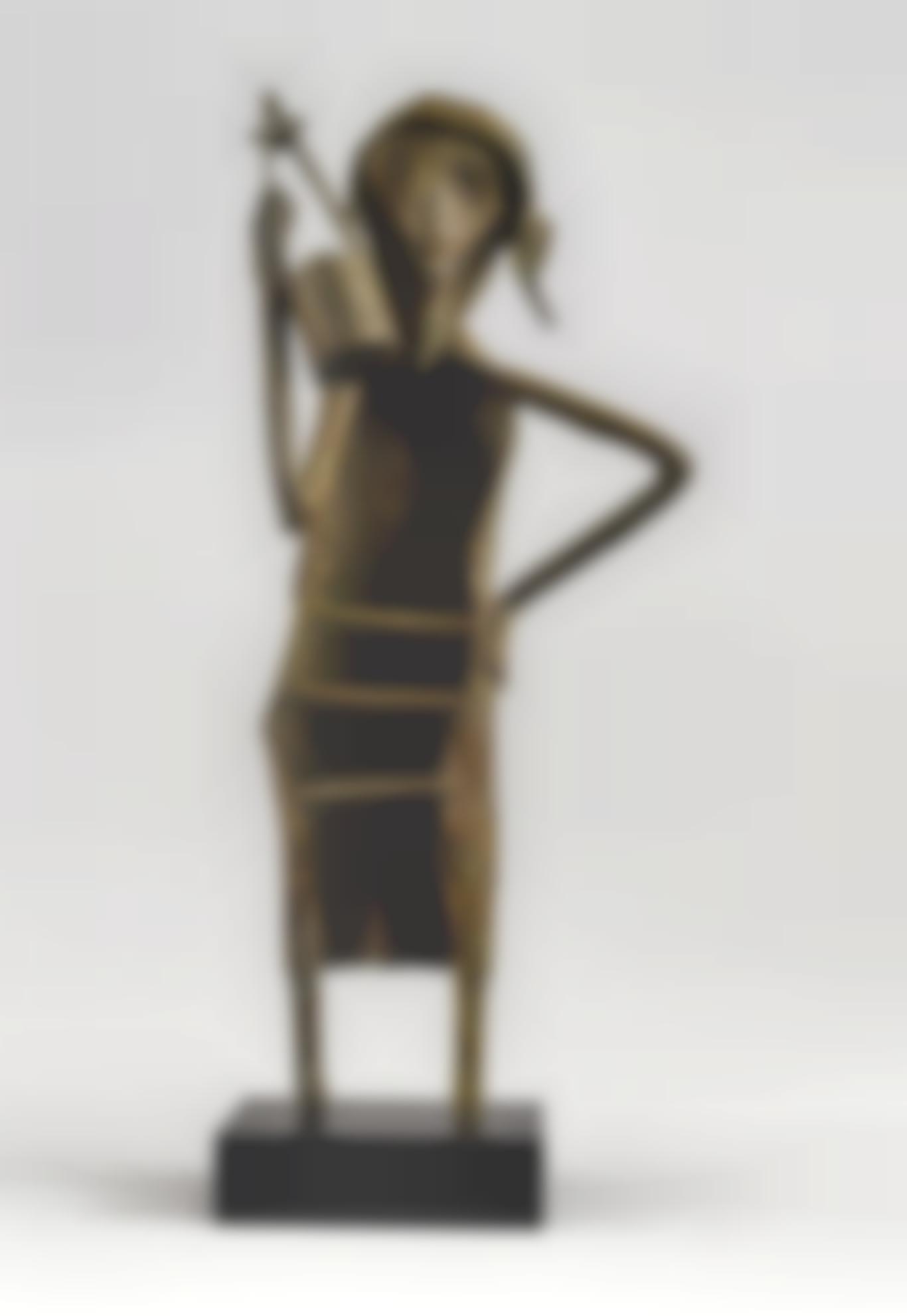 Somnath Hore - Untitled (Baul With Iktara)-