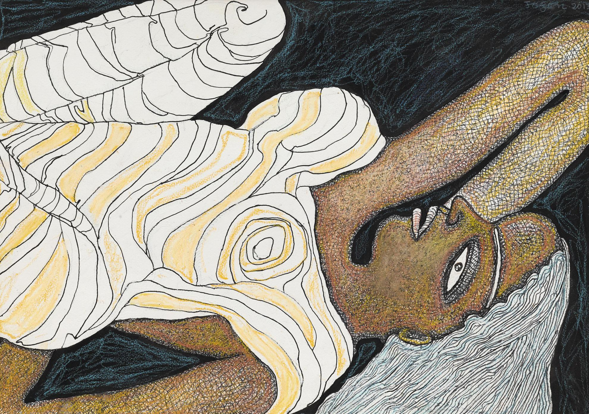 Jogen Chowdhury-Untitled (Woman Reclining)-2013