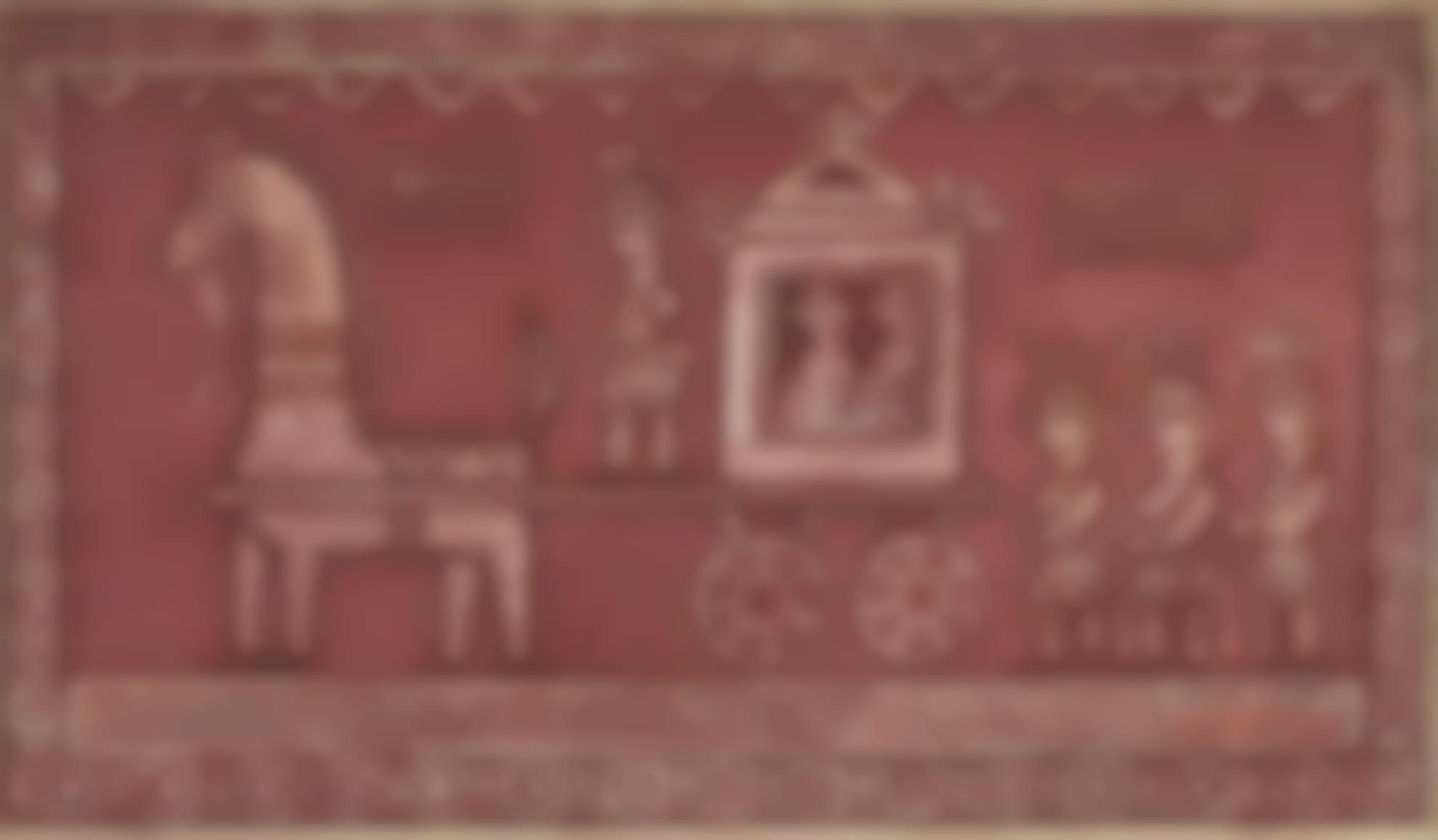 Jamini Roy - Untitled (The Bridegroom Procession)-