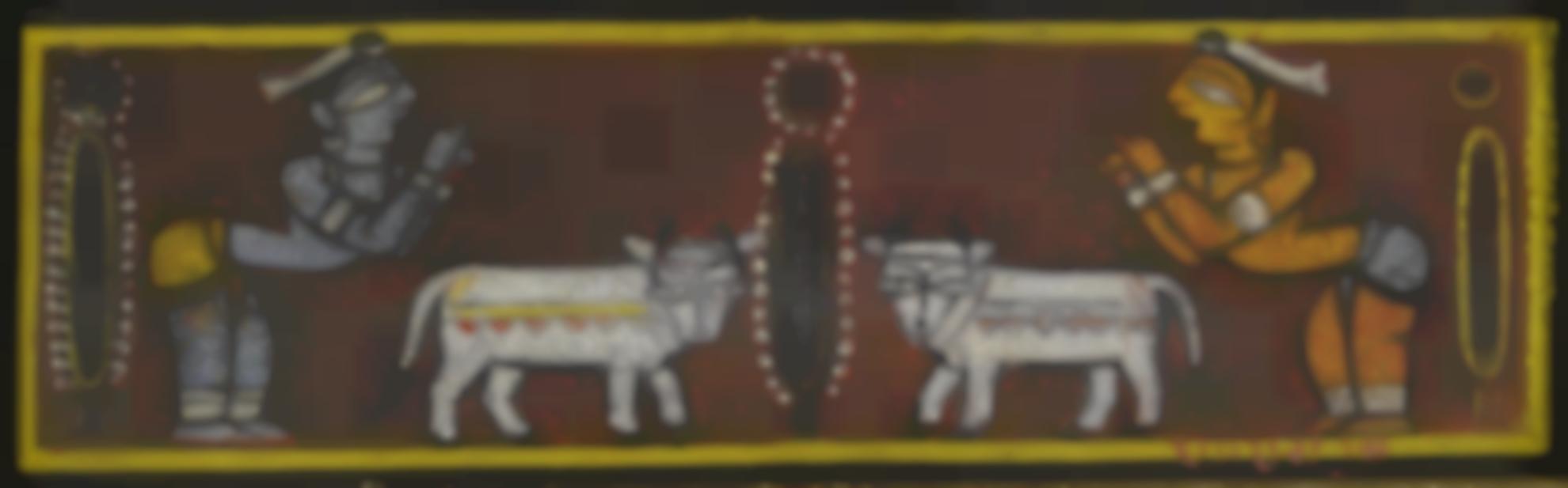 Jamini Roy - Untitled (Krishna And Balaram)-