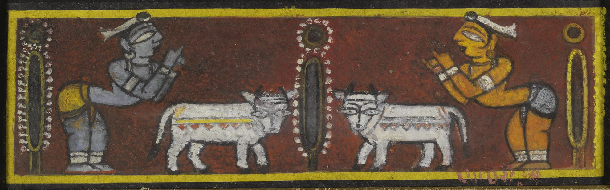 Jamini Roy - Untitled (Krishna And Balaram)-