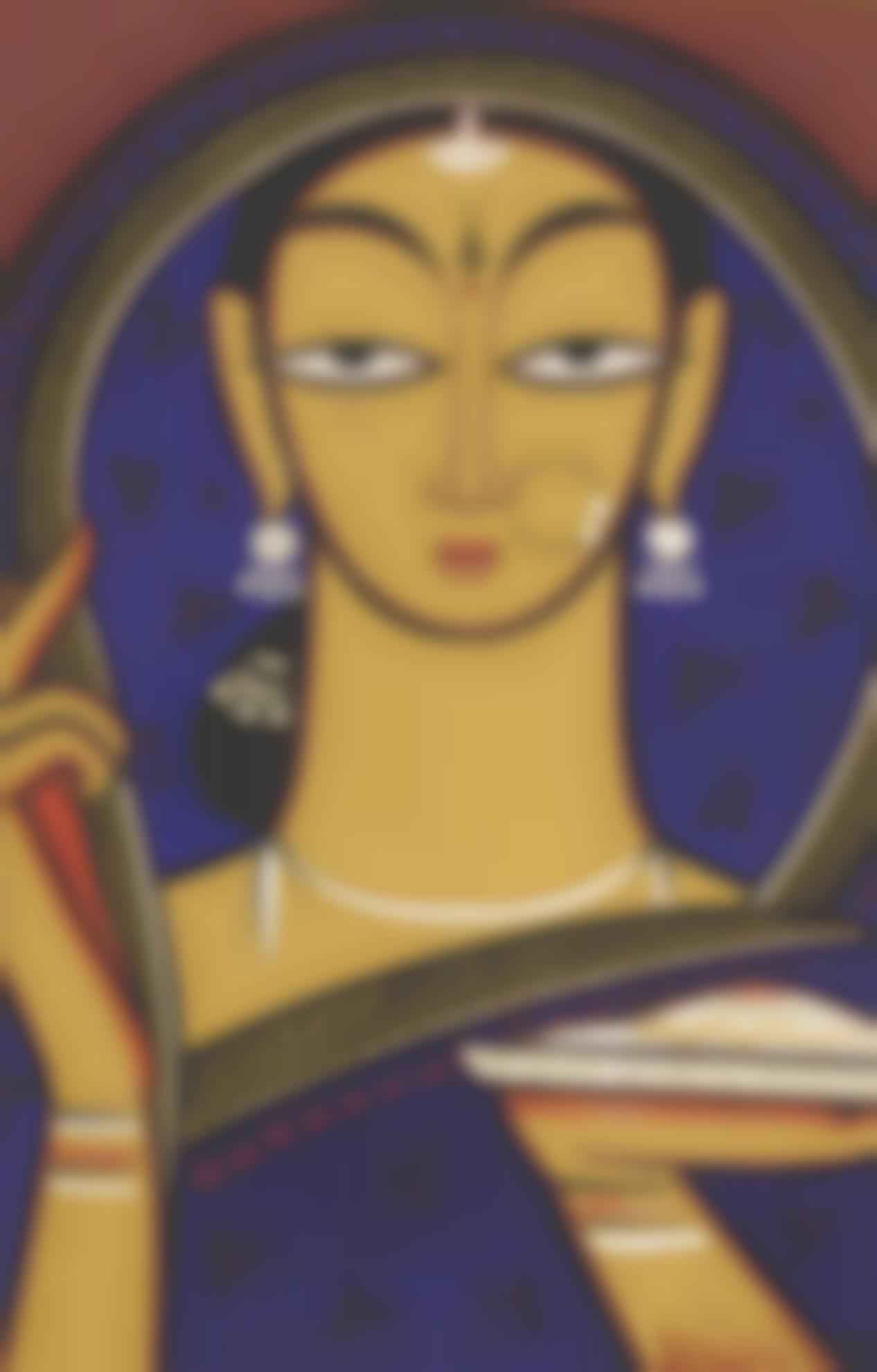 Jamini Roy - Untitled (Maiden)-