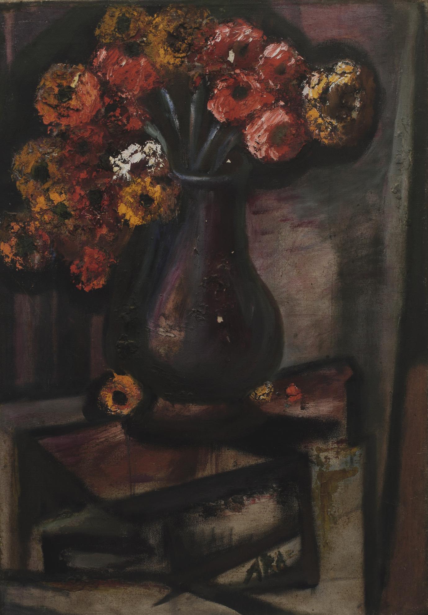 Krishnaji Howlaji Ara - Untitled (Still Life With Flowers)-