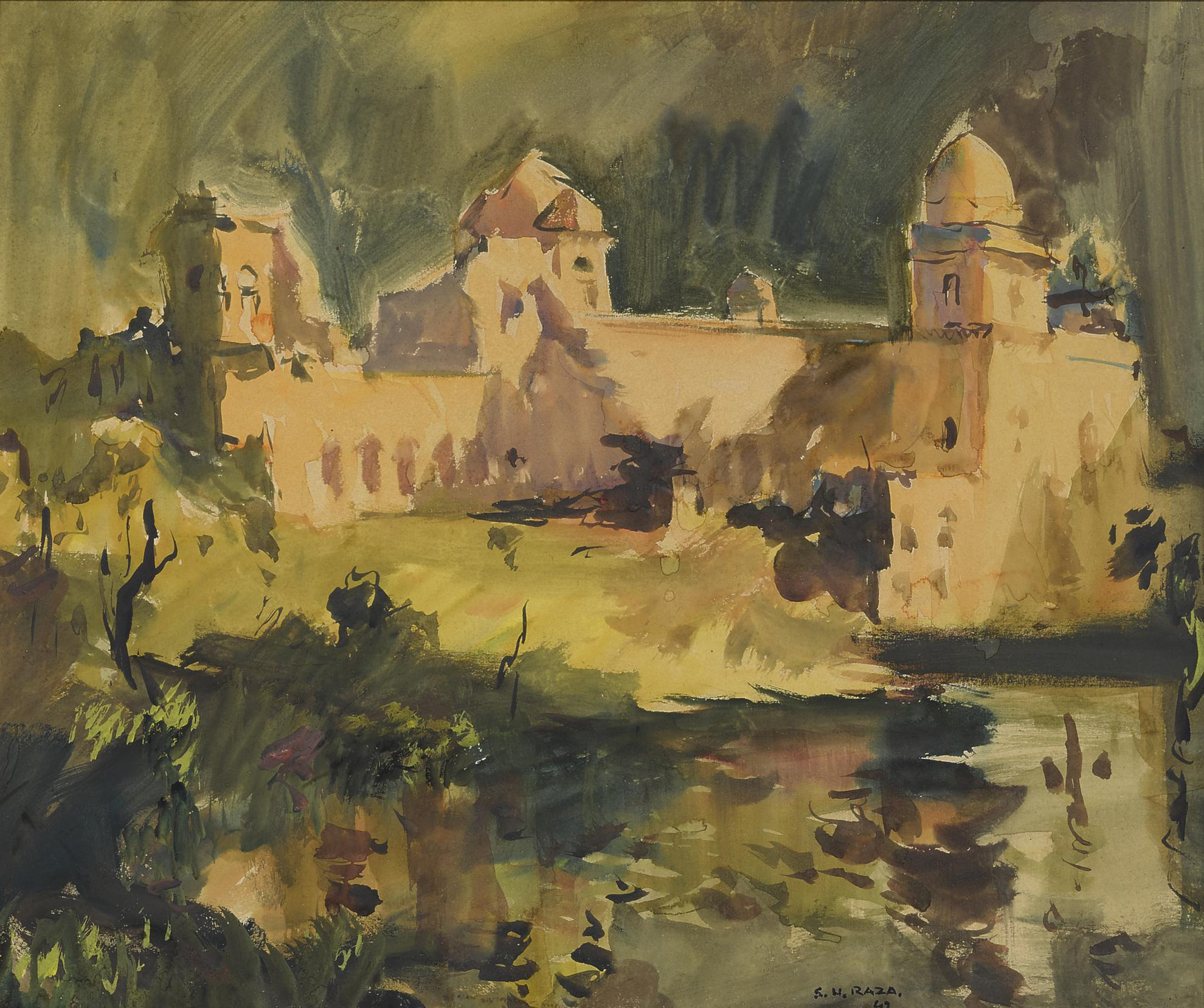 Sayed Haider Raza-Untitled (Jahaz Mahal)-1947