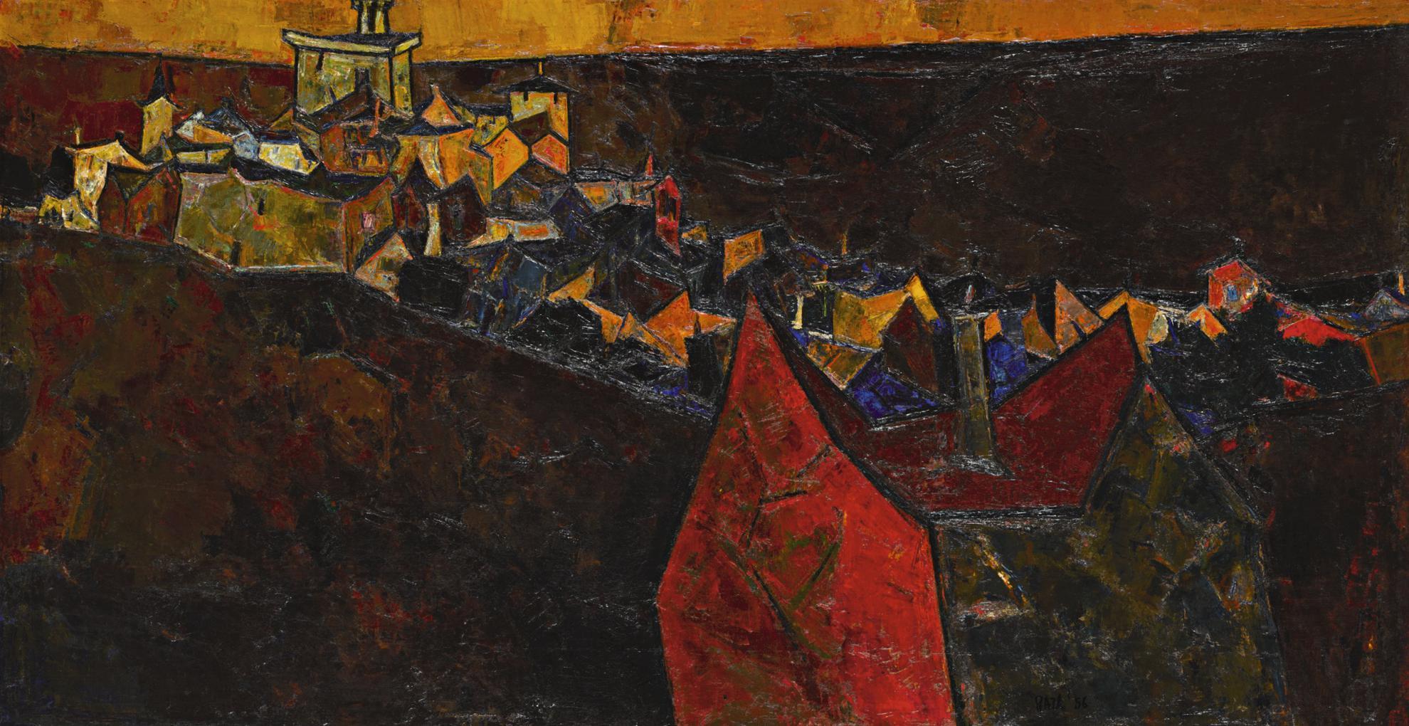 Sayed Haider Raza-Ville Provencale-1956