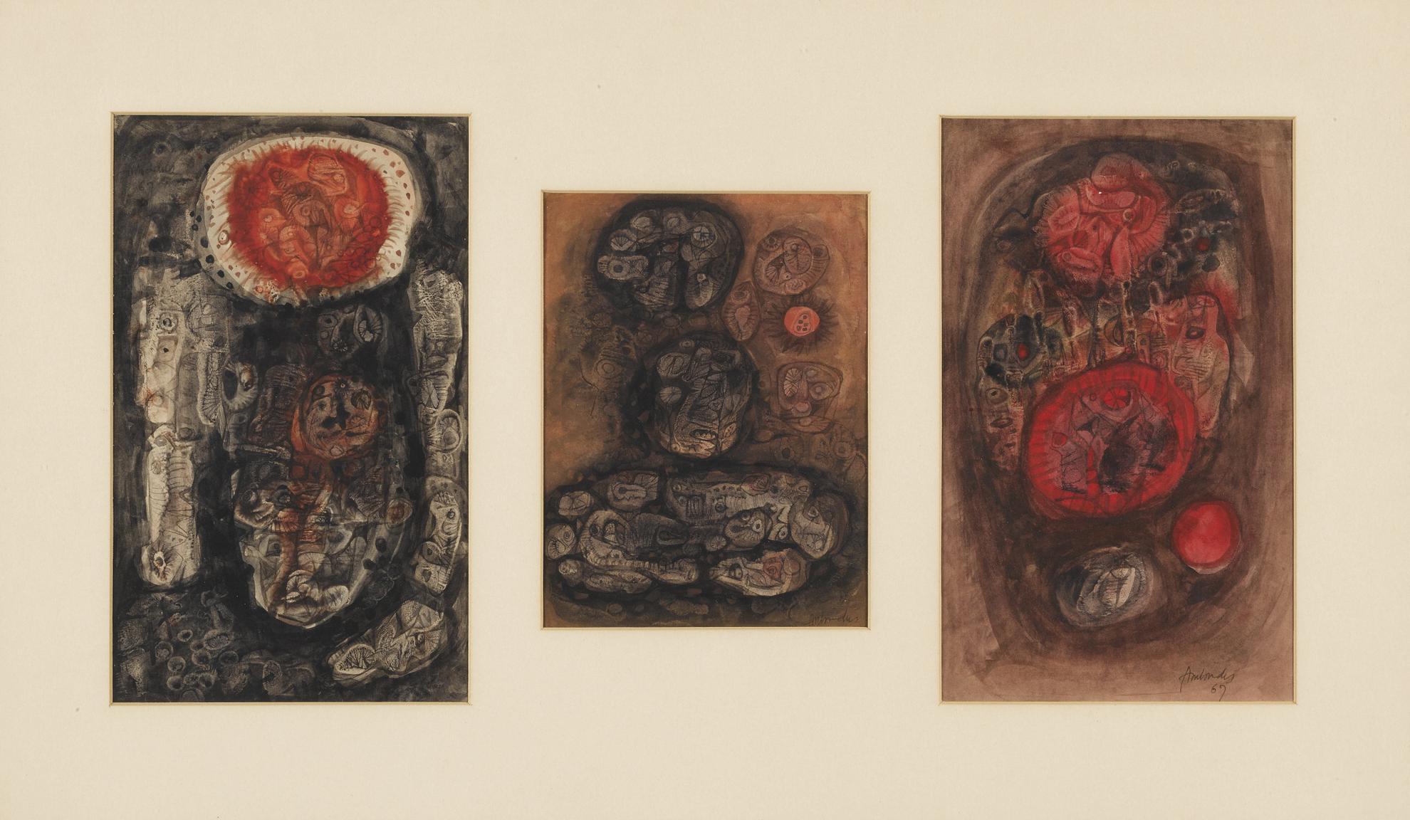Ambadas Khobragade - Untitled (Set Of Three)-1967