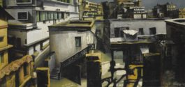 Bikash Bhattacharjee - Untitled (Rooftops)-1972