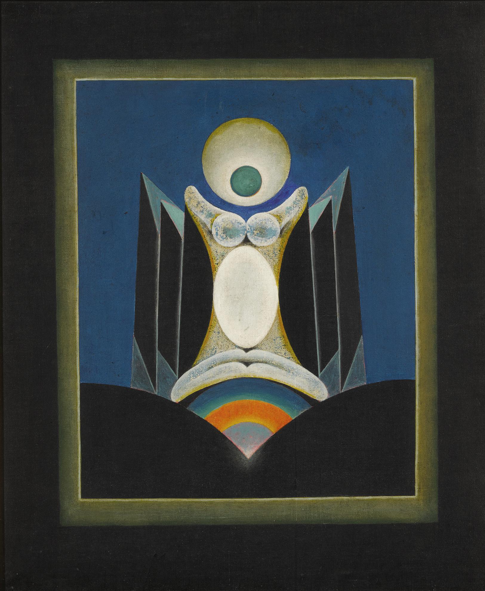 Gulam Rasool Santosh - Untitled (From The Black Period)-1973