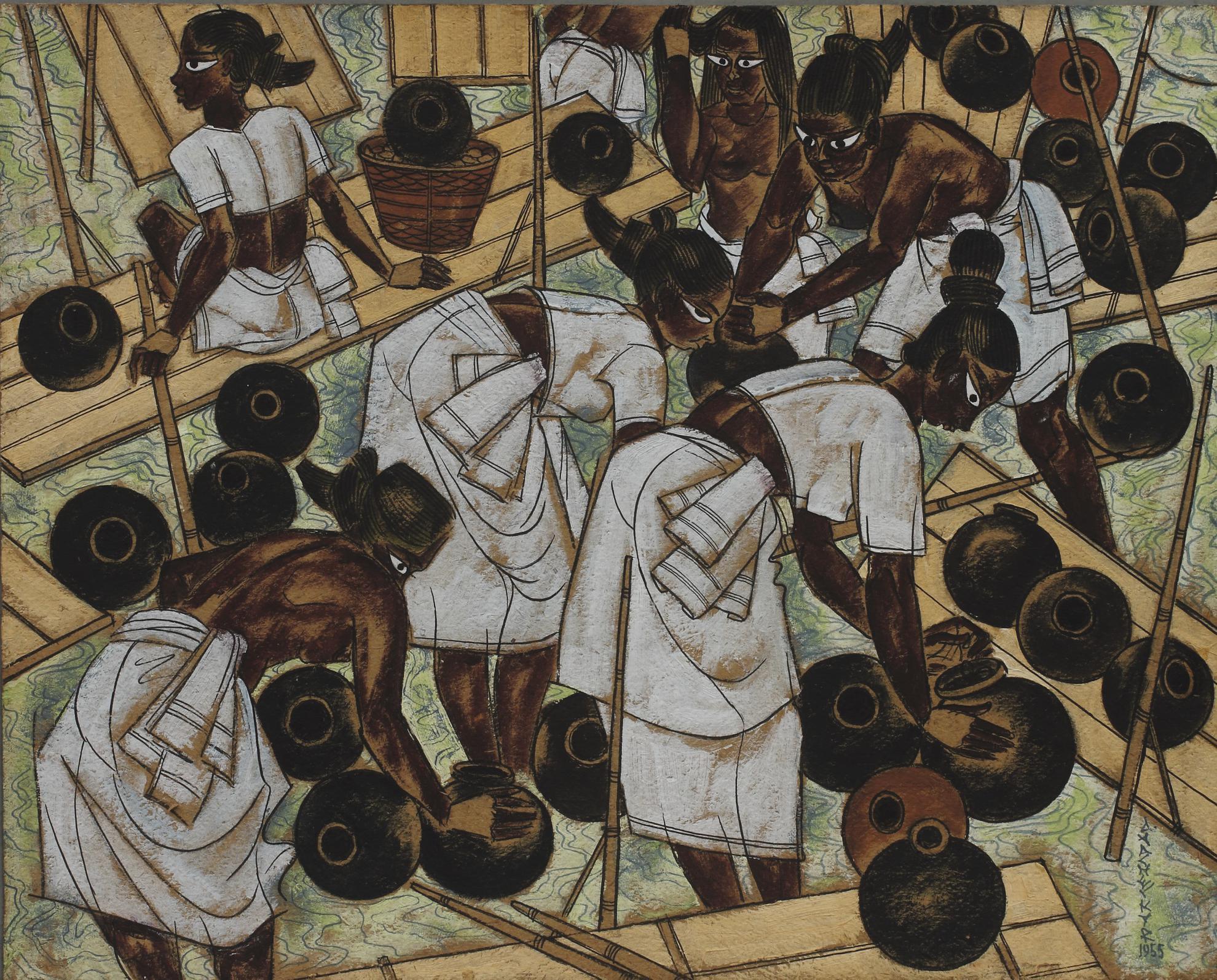 Abdulrahim Apabhai Almelkar - Sorting The Fish-1955