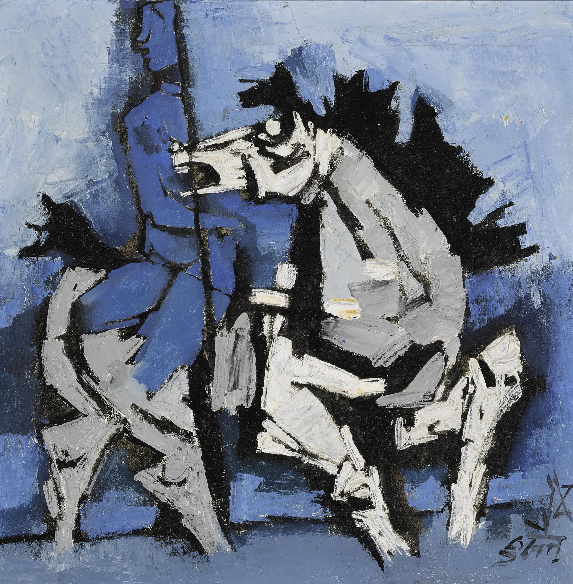 Maqbool Fida Husain-Untitled (Woman On A Horse)-