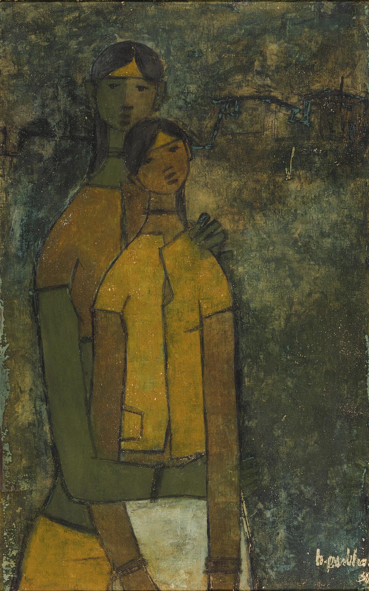 B. Prabha-Untitled (Two Women)-1959