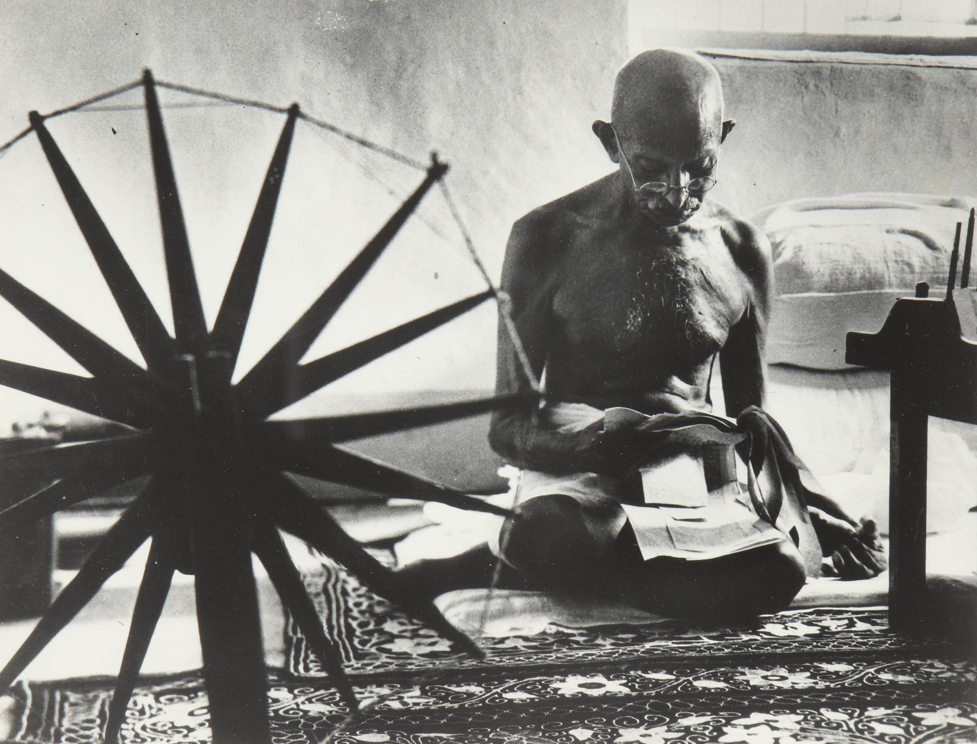 Margaret Bourke-White-Mahatma Gandhi, The Spinner-1980