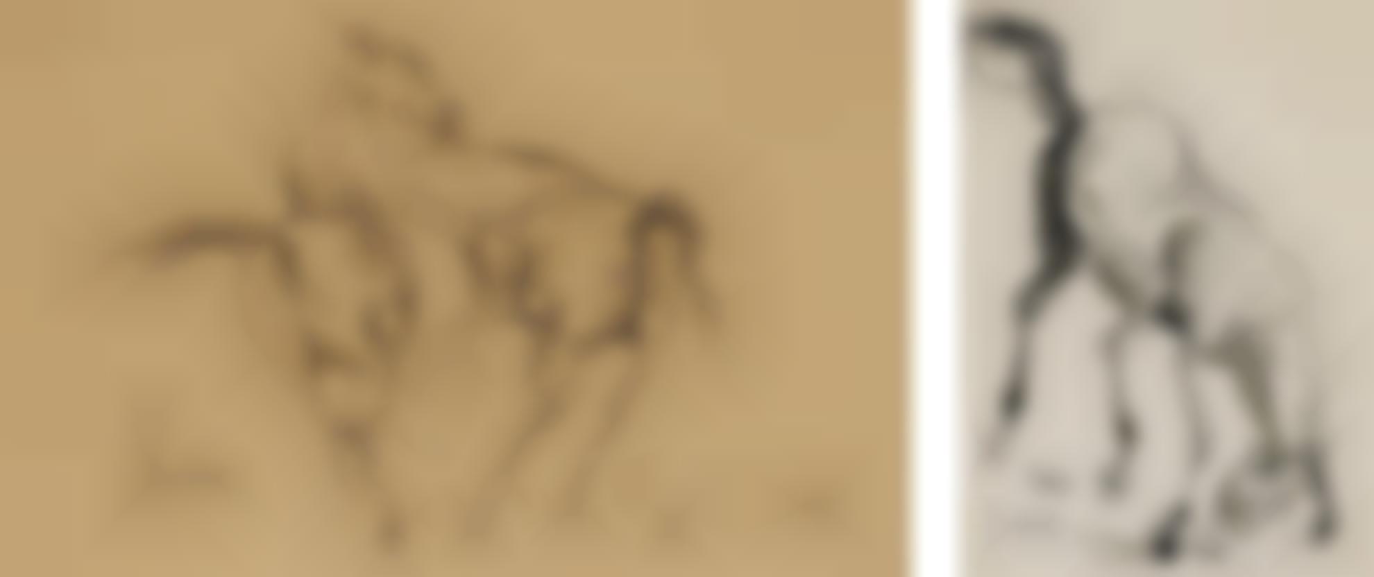 Sunil Das - Untitled (Horse Studies)-